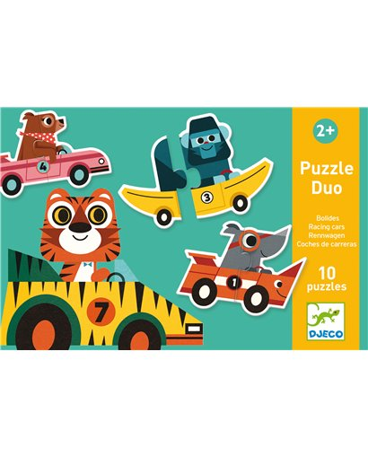 Puzzle dúo - Coches de carreras