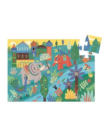 Puzzle Silueta - Haathe elefante - 24 pcs
