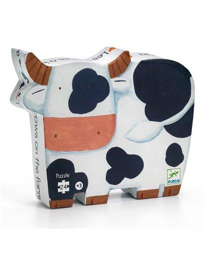 Puzzle Silueta - Las Vacas  - 24 pcs