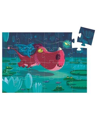 Puzzle Silueta - Edmond el dragón - 24 pcs