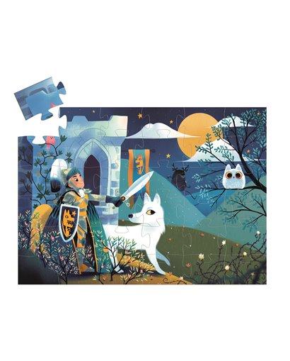Puzzle Silueta - El Caballero de la luna llena - 36 pcs