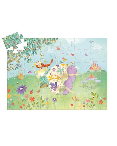 Puzzle Silueta - Princesa de primavera - 36 pcs