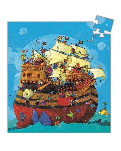 Puzzle Silueta - El Barco Pirata - 54 pcs