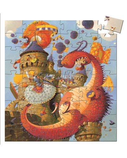 Puzzle Silueta - Vaillant y el dragón - 54 pcs