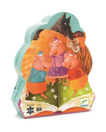 Puzzle Silueta - Los Tres Cerditos - 24 pcs