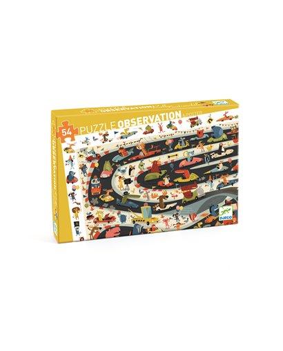 Puzzle Observación - Rally de coches - 54 pcs
