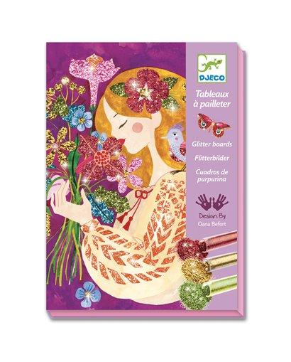 Cuadros purpurina - El perfume de las flores