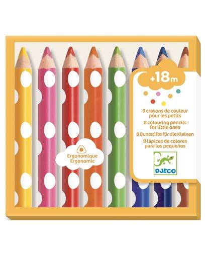 Colores para peques - 8 lápices de colores