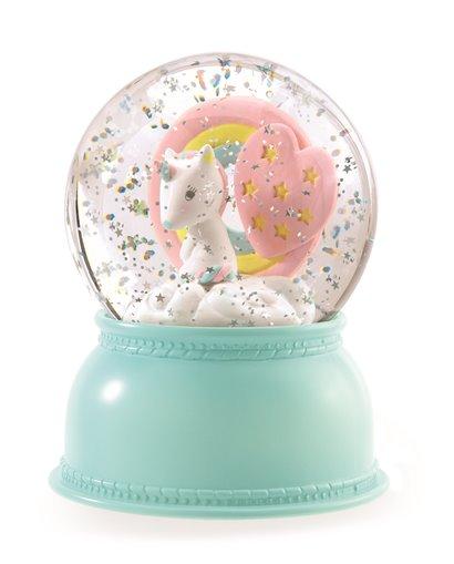 Lámpara bola de nieve - Unicornio