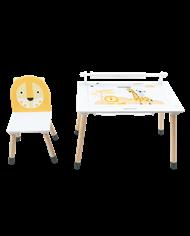 Mesa + silla de madera Jungle