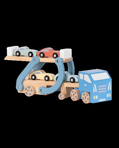 Camión remolque de madera