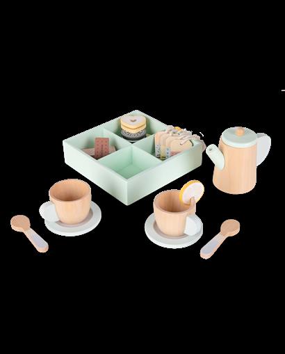 Set de té de madera