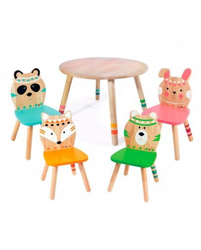 Pack Mesa y 4 sillas...